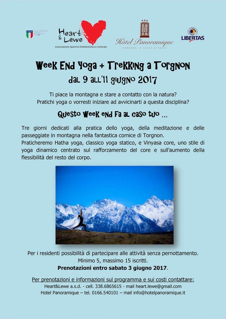 Locandina - Week end yoga e trekking a Torgnon